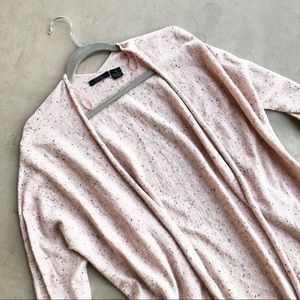 RDI Blush Speckled Open Tie Front Cardigan Sweater